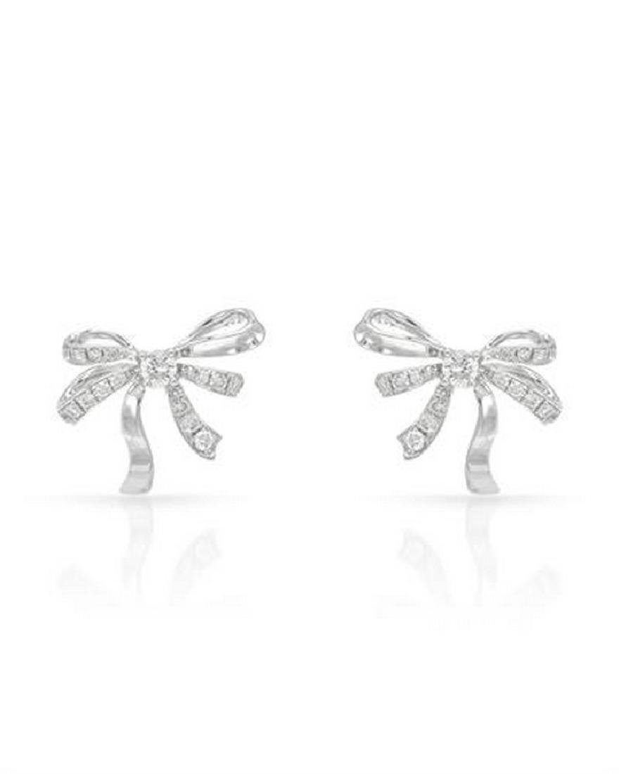 14K White Gold 0.32CTW Diamond Earring