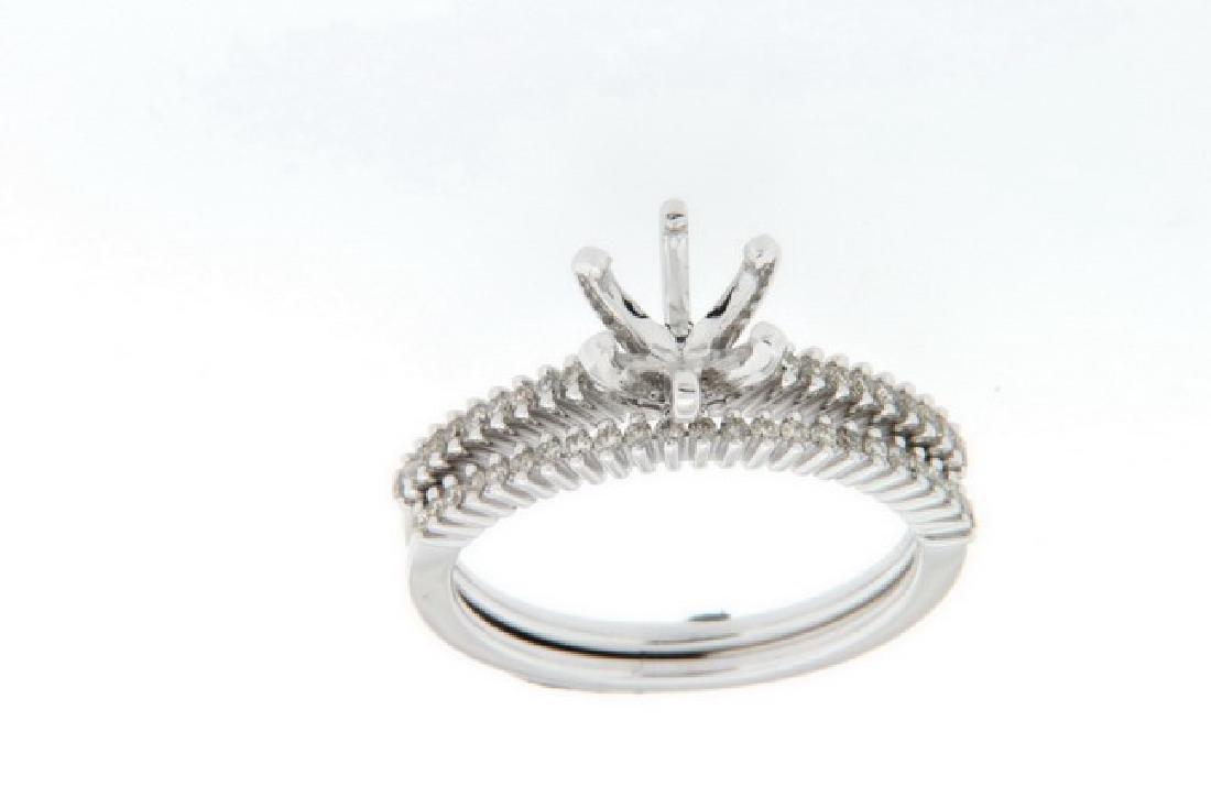 14K White Gold 0.28CTW Diamond Wedding Ring Set