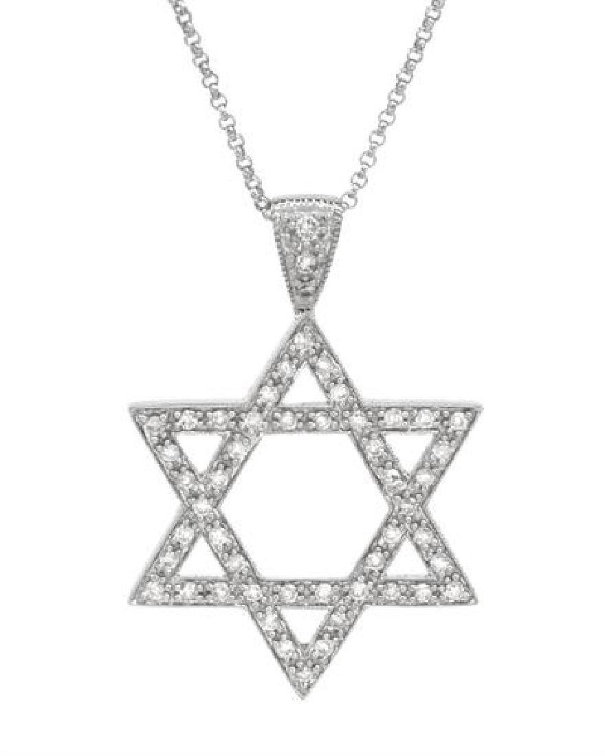 14K White Gold 0.35CTW Diamond Necklace