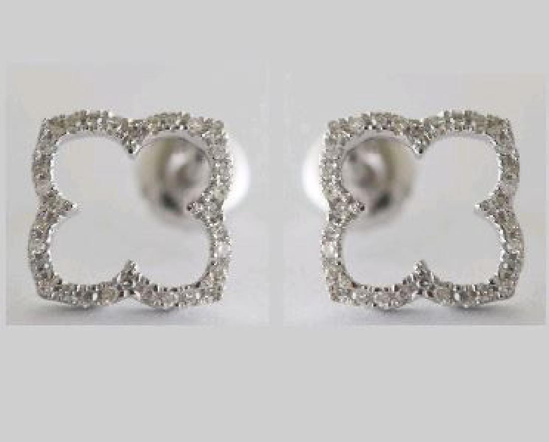 14K White Gold 0.13CTW Ladies Diamond Earring