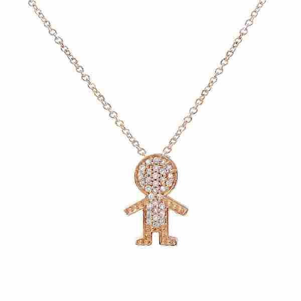 14K Gold 0.11 CTW Diamond Slider with Chain