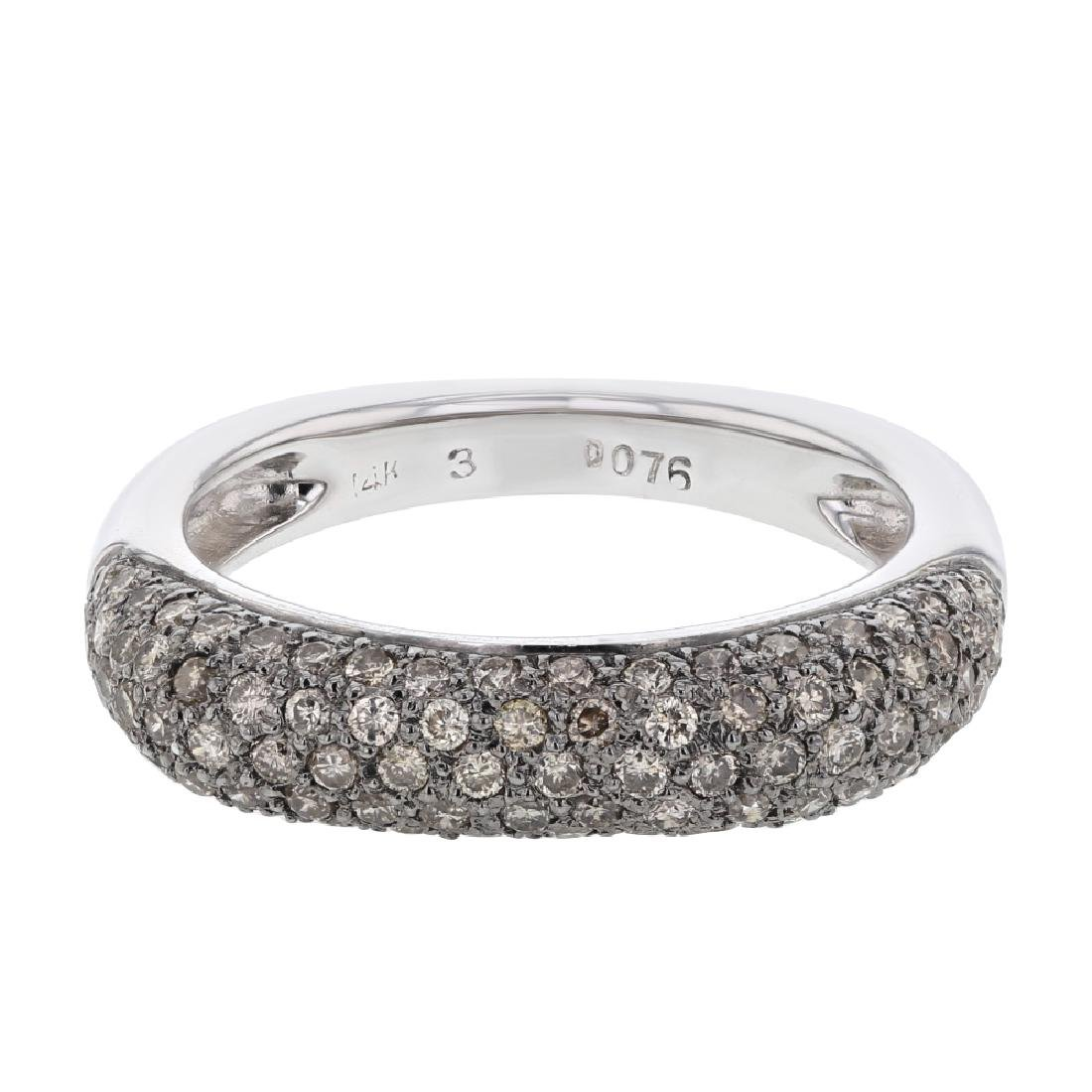 14K White Gold 0.76CTW Diamond Fashion Ring