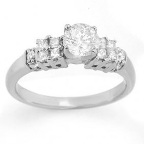 Natural 1.0 Ctw Diamond Bridal Engagement Ring 18k