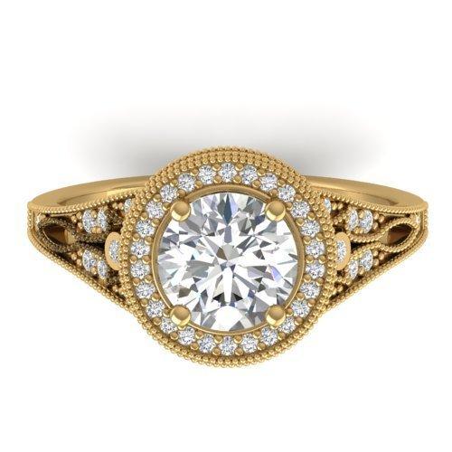 Genuine 2.20 CTW Certified Diamond Solitaire Art Deco