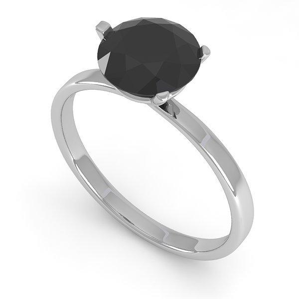 Genuine 1.50 CTW Black Certified Diamond Solitaire