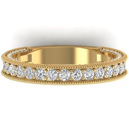 Genuine 1.25 CTW Certified Diamond Art Deco Eternity