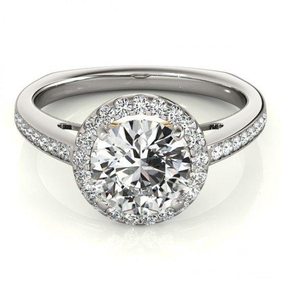 Genuine 0.80 CTW Certified Diamond Bridal Solitaire
