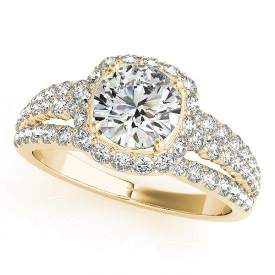 Genuine 1.75 CTW Certified Diamond Bridal Solitaire