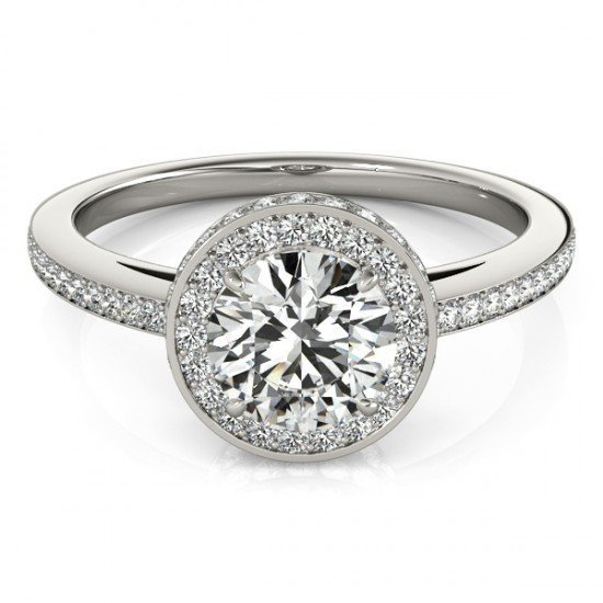 Genuine 1.25 CTW Certified Diamond Bridal Solitaire