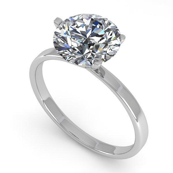 Genuine 2.01 CTW Certified Diamond Solitaire Engagement