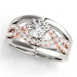 Genuine 1.05 CTW Certified Diamond Solitaire Bridal
