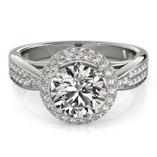 Genuine 1.65 CTW Certified Diamond Bridal Solitaire