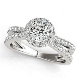Genuine 1.36 CTW Certified Diamond Bridal Solitaire