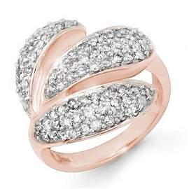 Natural 1.0 ctw Diamond Ring 14K Rose Gold - 14276-