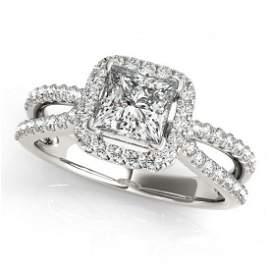 Genuine 1.50 CTW Certified Princess Diamond Bridal