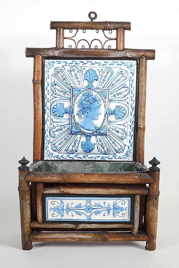 Old French Faience Montereau Tile Majolica Planter