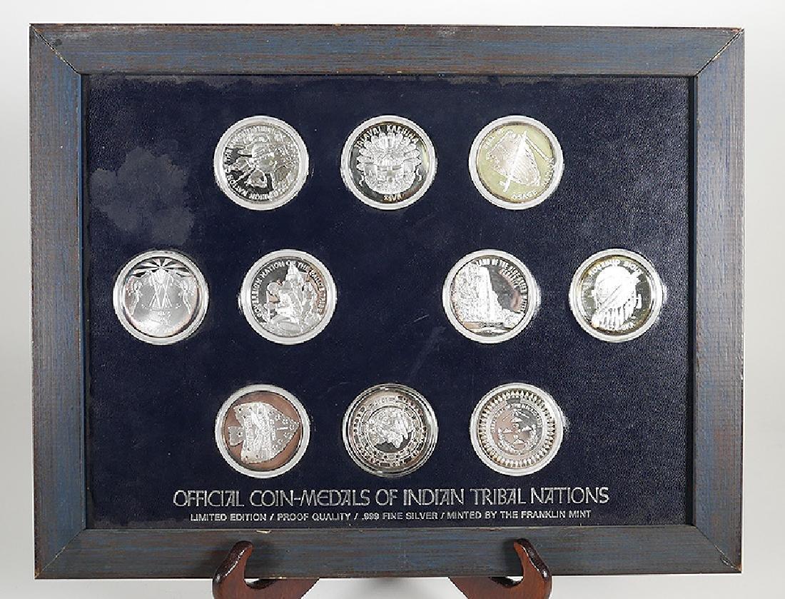 Franklin Mint 999 Silver 10 Tribal Medallions Set
