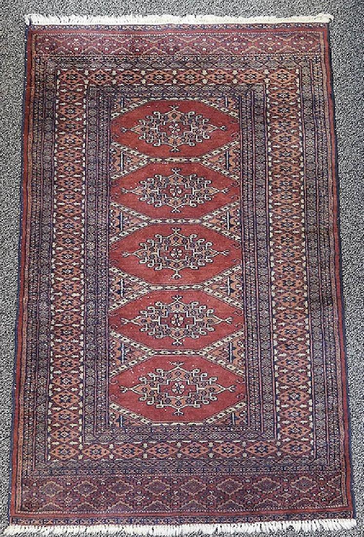 Pakistan Turkmen Turkoman Hand Knotted Rug 50x31