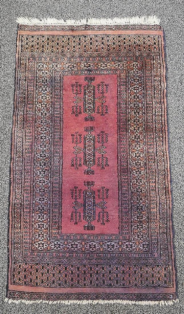 Pakistan Turkmen Turkoman Hand Knotted Rug 52x30