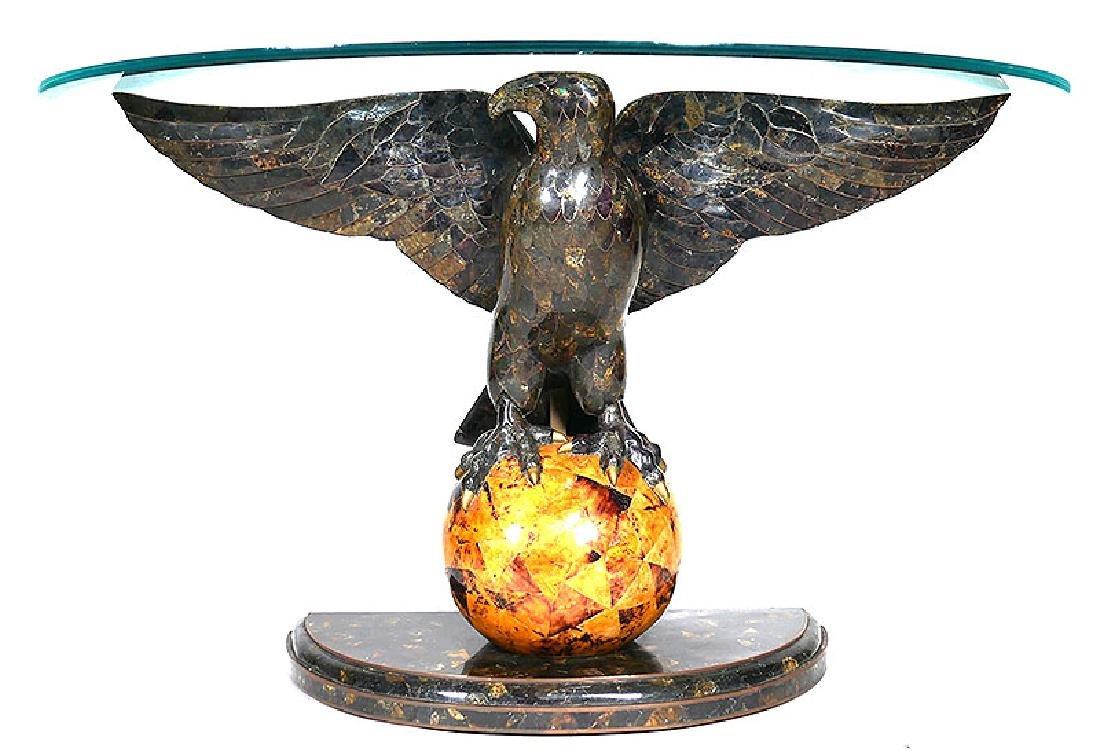 MAITLAND SMITH Eagle Tessellated Mosaic Hall Table