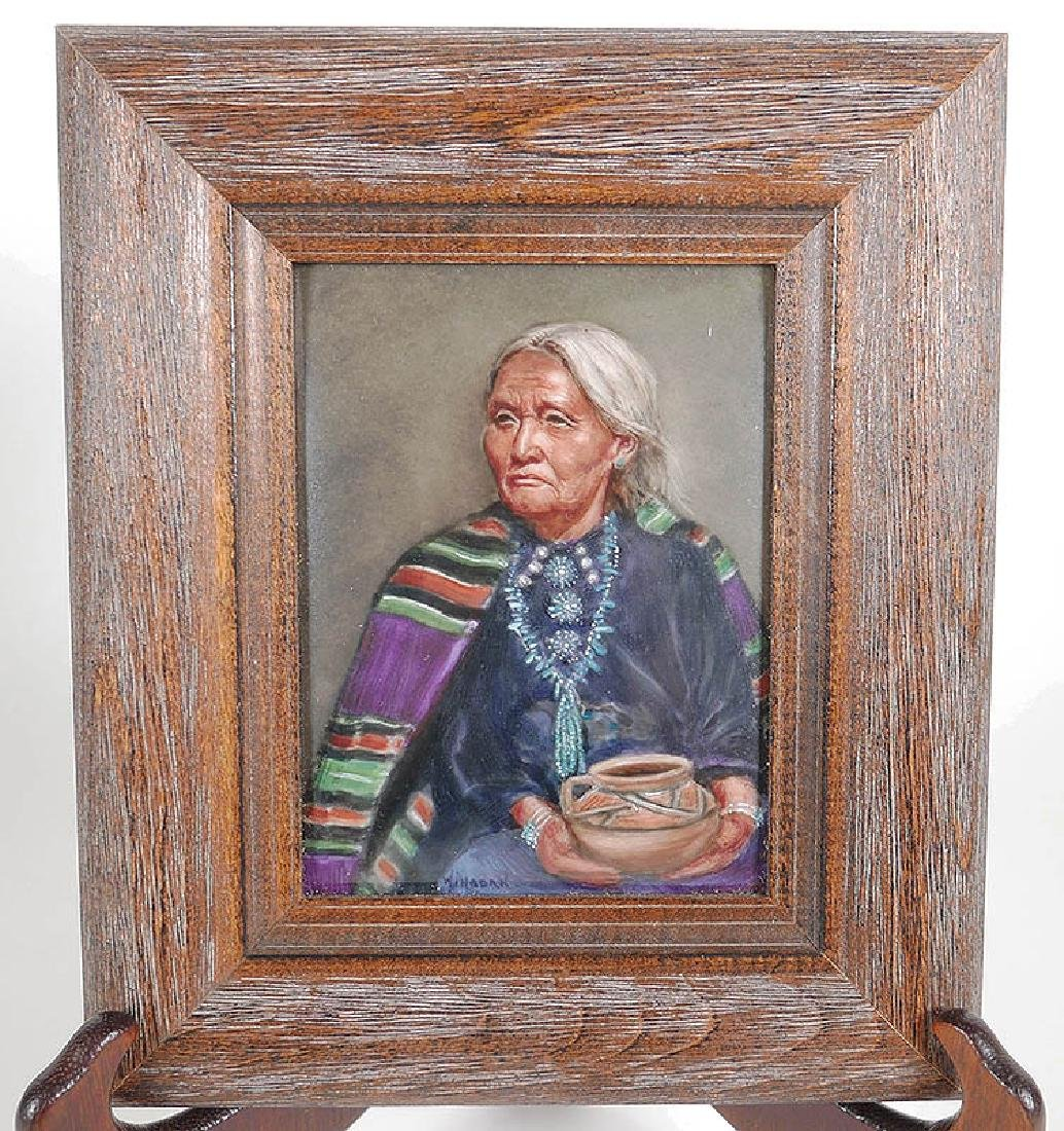 Texas Painting on Tile Native American Potter