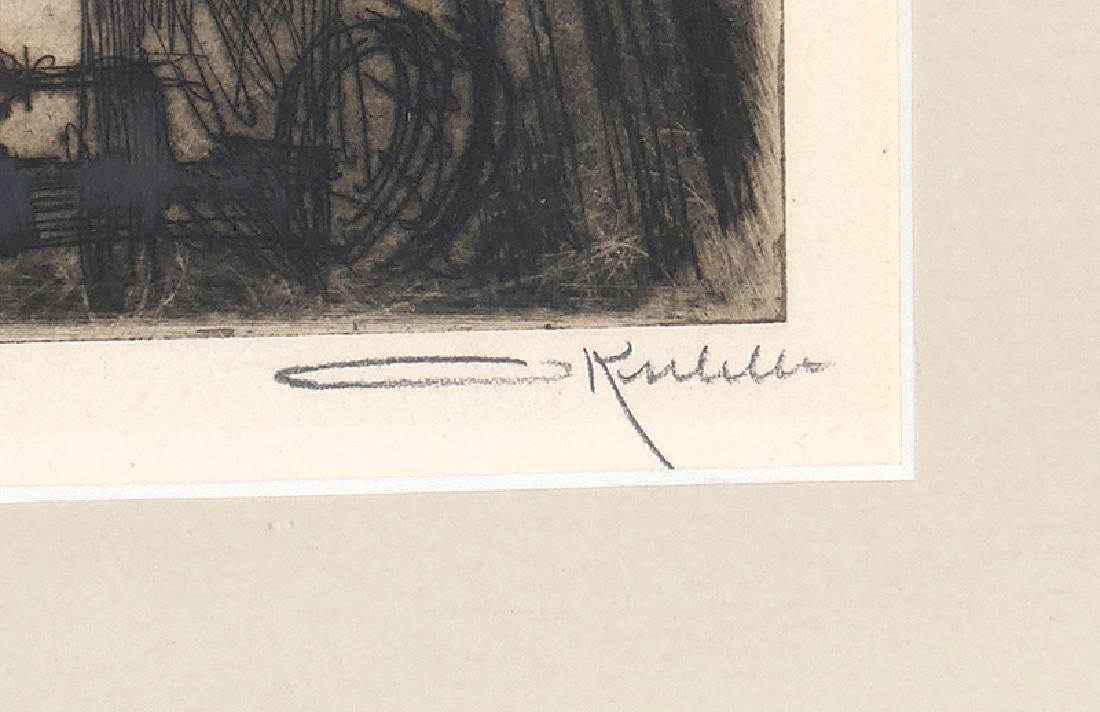 Otto Kuhler Signed Engraving Washington Bridge NYC - 3