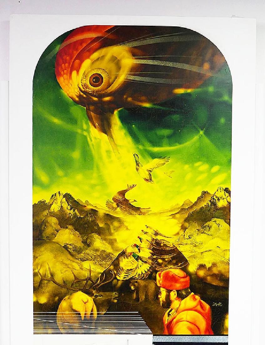 ZABOJ B KULHAVY Large Mixed Media Painting 32x78 - 2