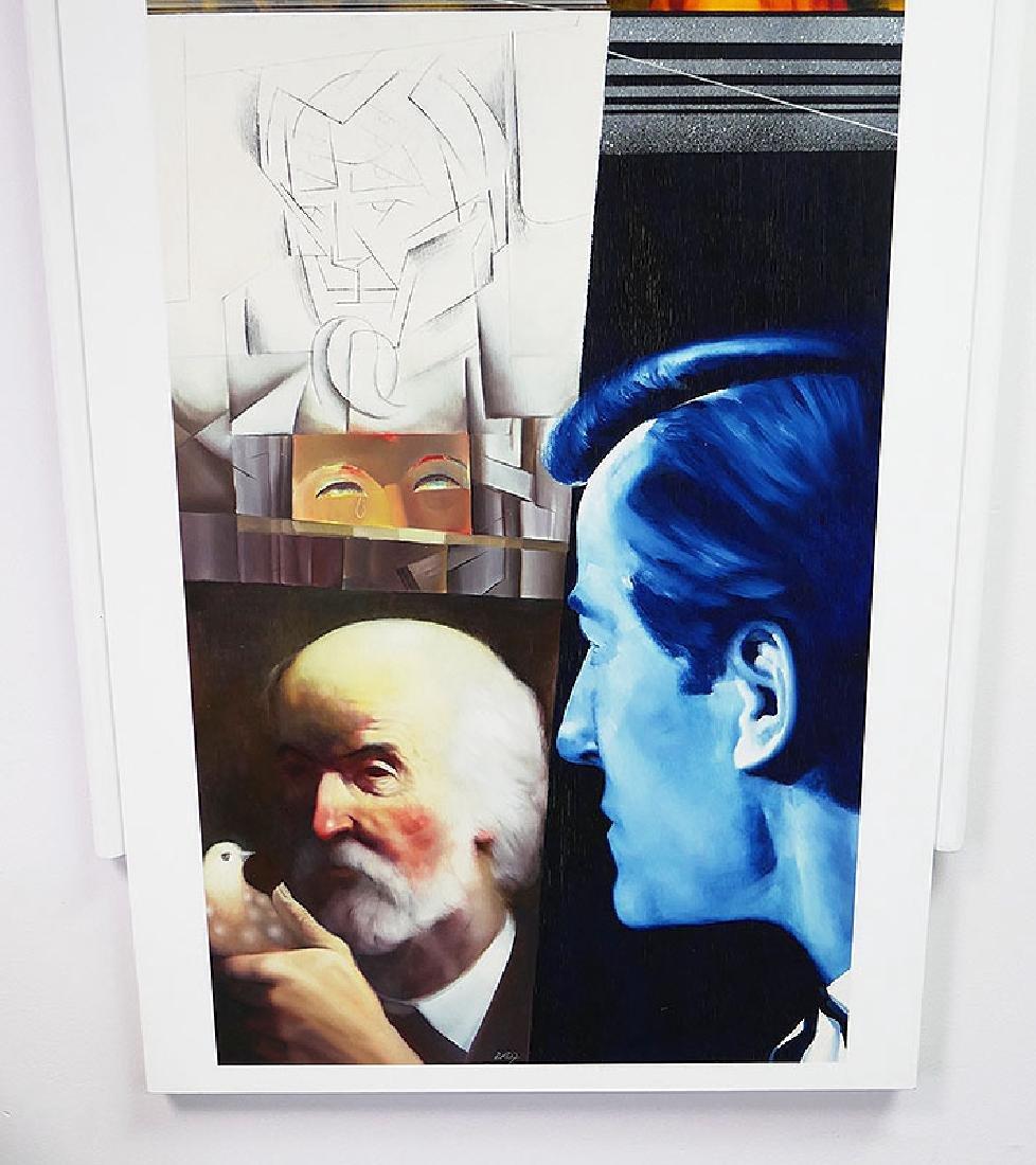 ZABOJ B KULHAVY Large Mixed Media Painting 32x78 - 4
