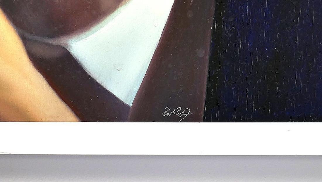 ZABOJ B KULHAVY Large Mixed Media Painting 32x78 - 5
