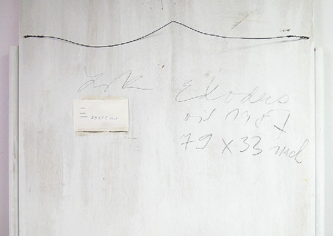 ZABOJ B KULHAVY Large Mixed Media Painting 32x78 - 7