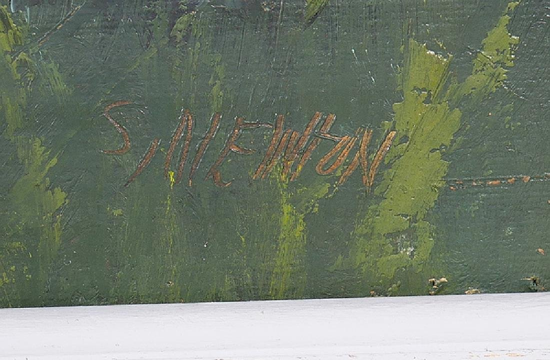SAM NEWTON Highwayman Florida Oil Board Painting - 3