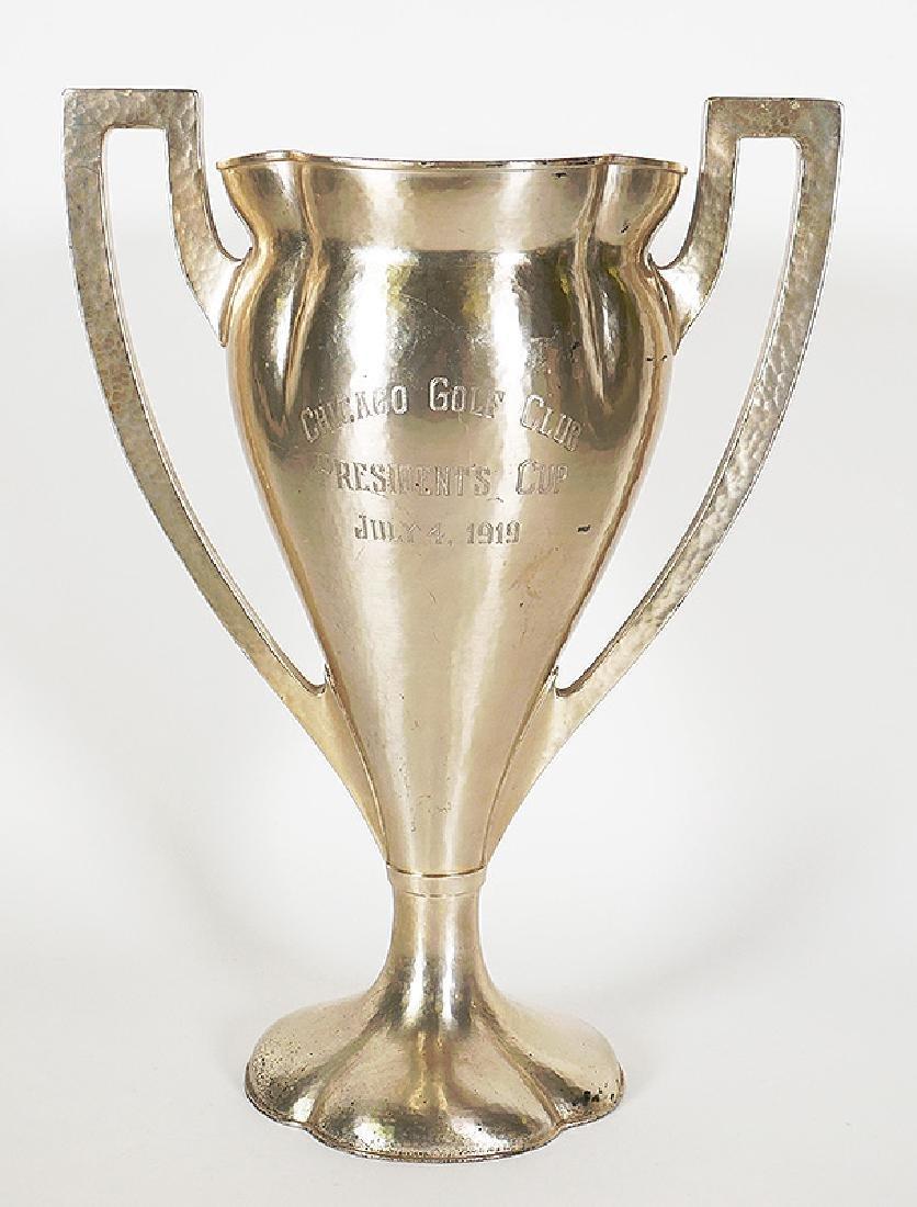 Lebolt Arts & Crafts Chicago Sterling Golf Trophy