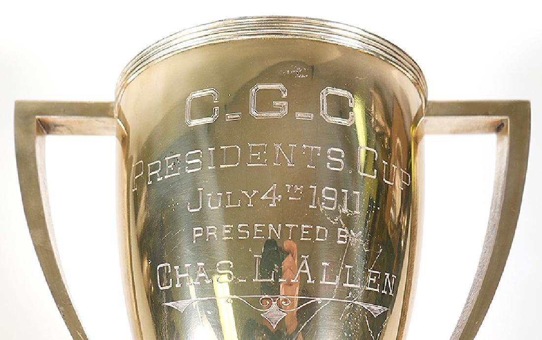 1911 Sterling Silver Chicago Golf Club Trophy 38oz - 2