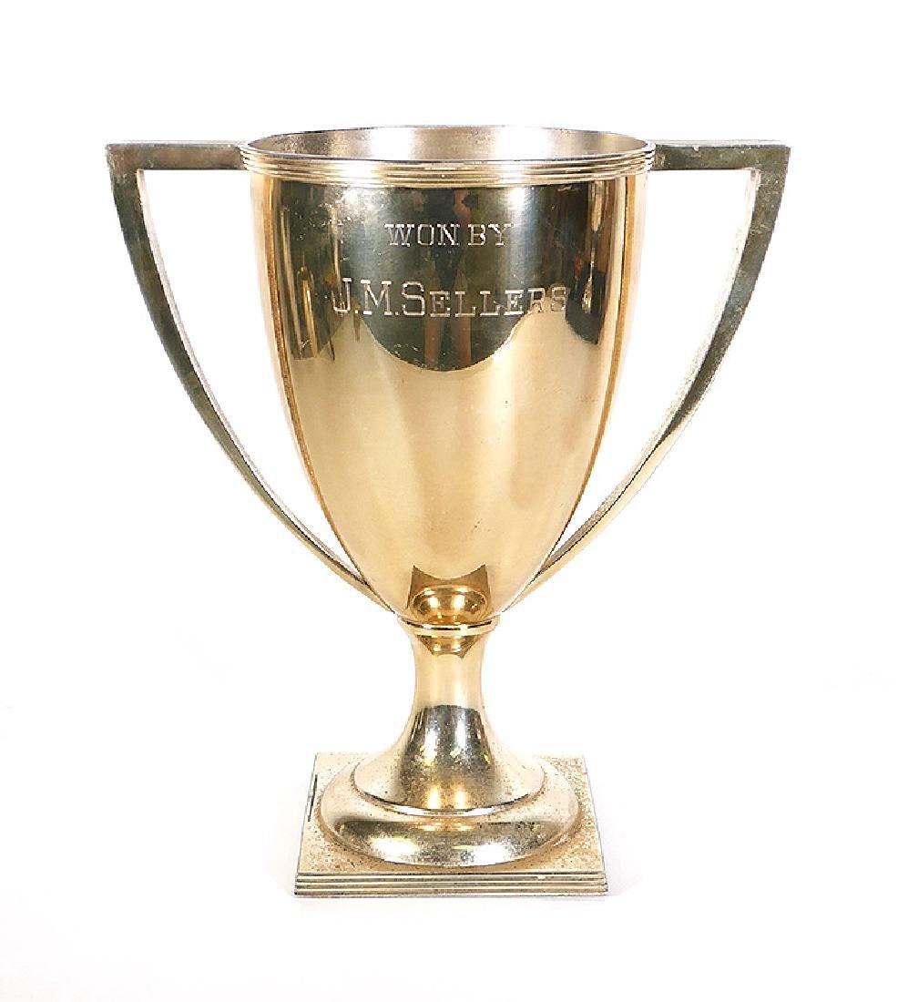 1911 Sterling Silver Chicago Golf Club Trophy 38oz - 3