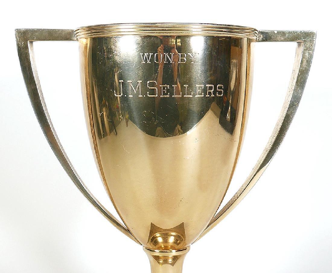 1911 Sterling Silver Chicago Golf Club Trophy 38oz - 4