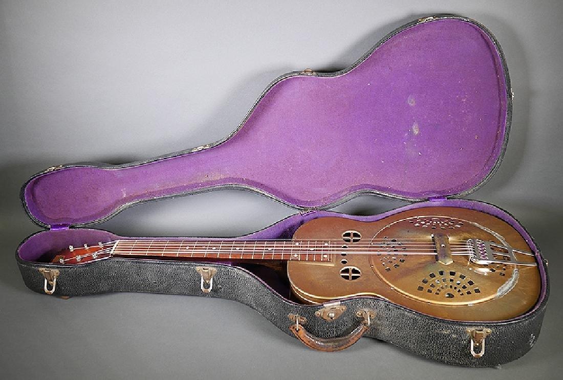 Vintage Dobro 1936 Metal Body Resonator Guitar - 10