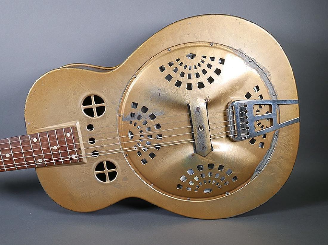 Vintage Dobro 1936 Metal Body Resonator Guitar - 2