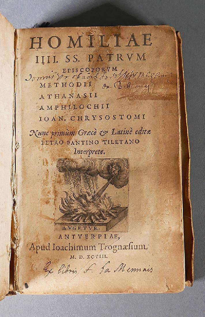 1598 Book Homilies of Church Bishops Greek & Latin - 4