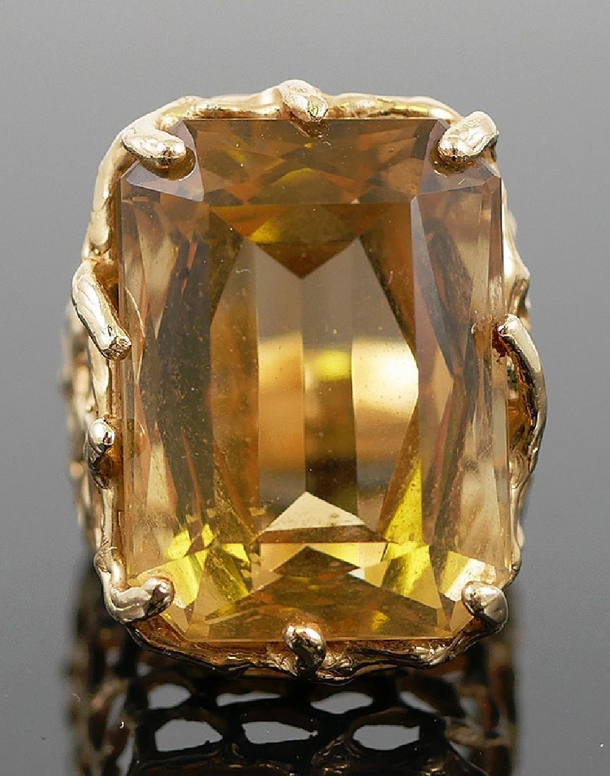 14k Yellow Gold Citrine Ring - 3