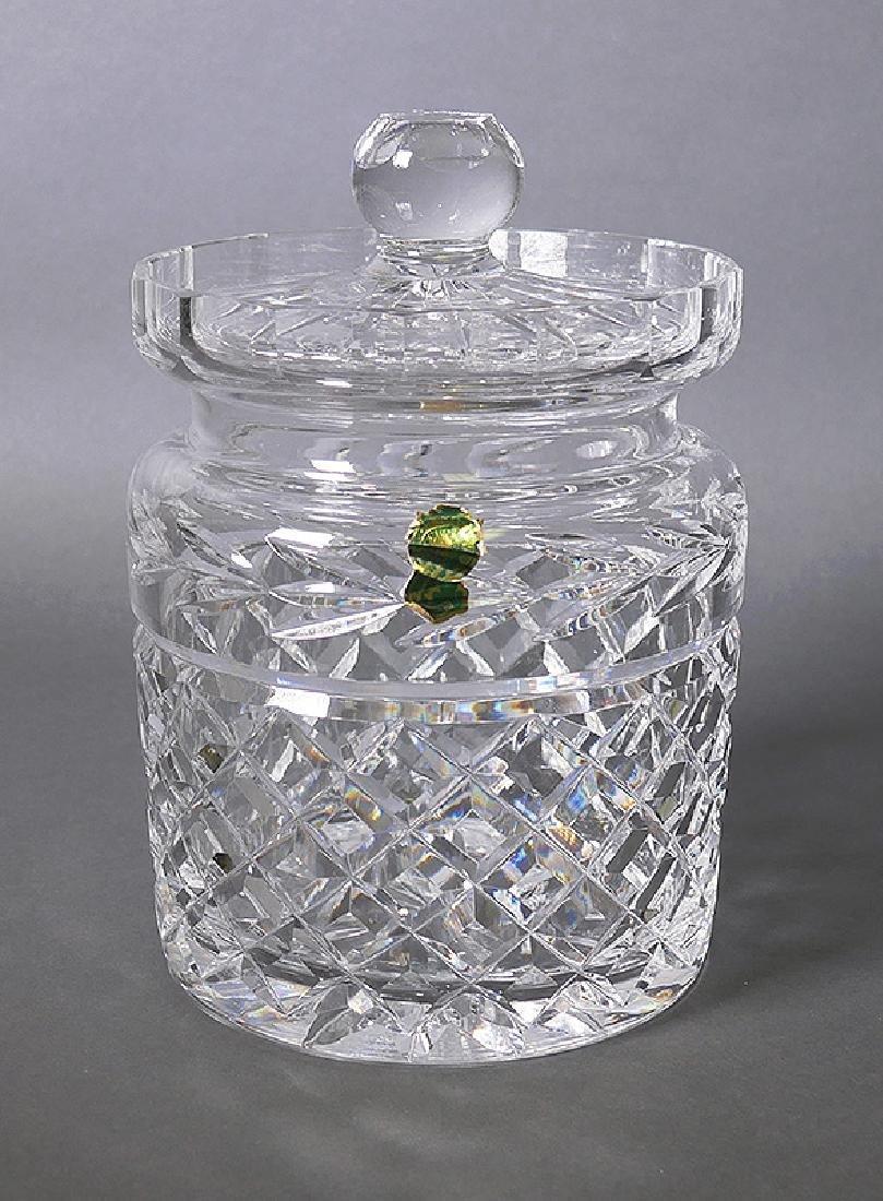 Waterford Crystal Biscuit Jar w Foil Label