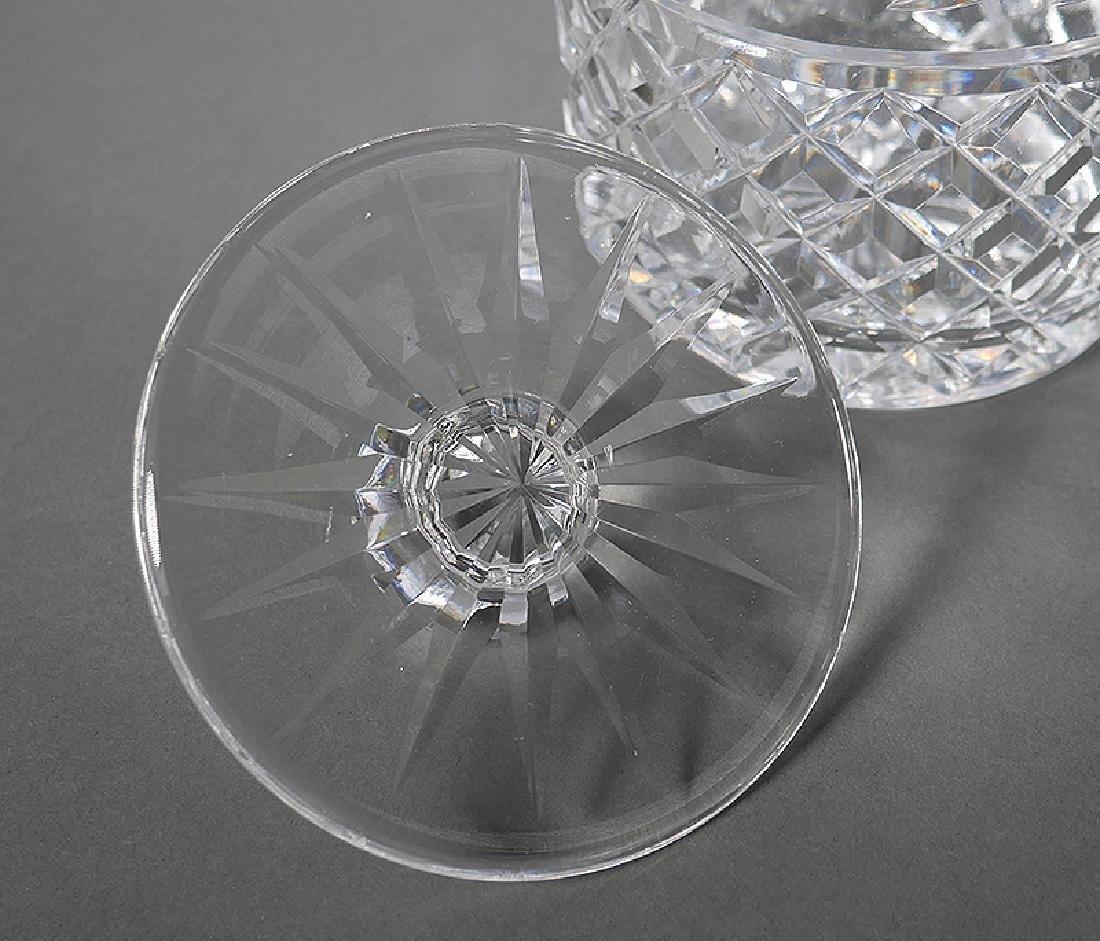 Waterford Crystal Biscuit Jar w Foil Label - 2