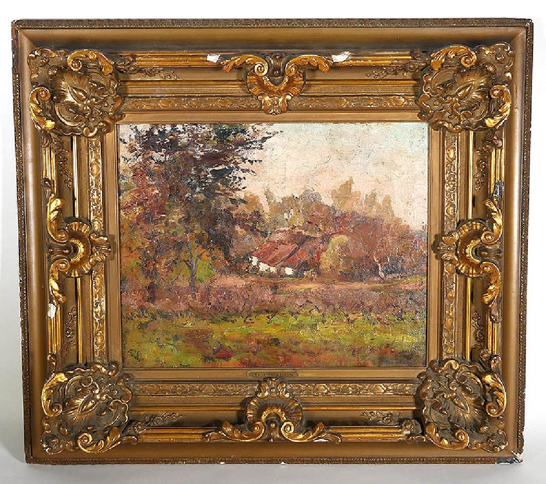 GUILLAUME VOGELS A Farm in Autumn O/C Painting