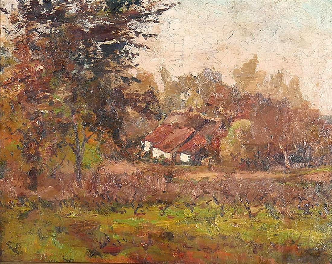 GUILLAUME VOGELS A Farm in Autumn O/C Painting - 2