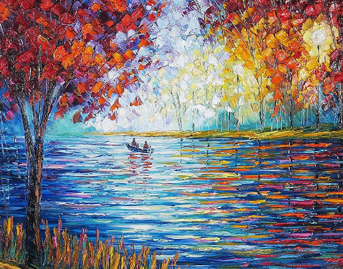Slava Ilyayev Original Acrylic Painting on Canvas - 2