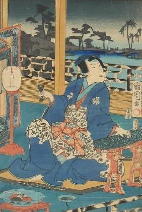 Japanese Woodblock Print by Kunichika