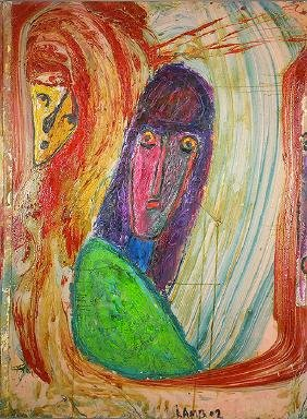 Matt Lamb (1932-2012) Untitled Abstract 48x36