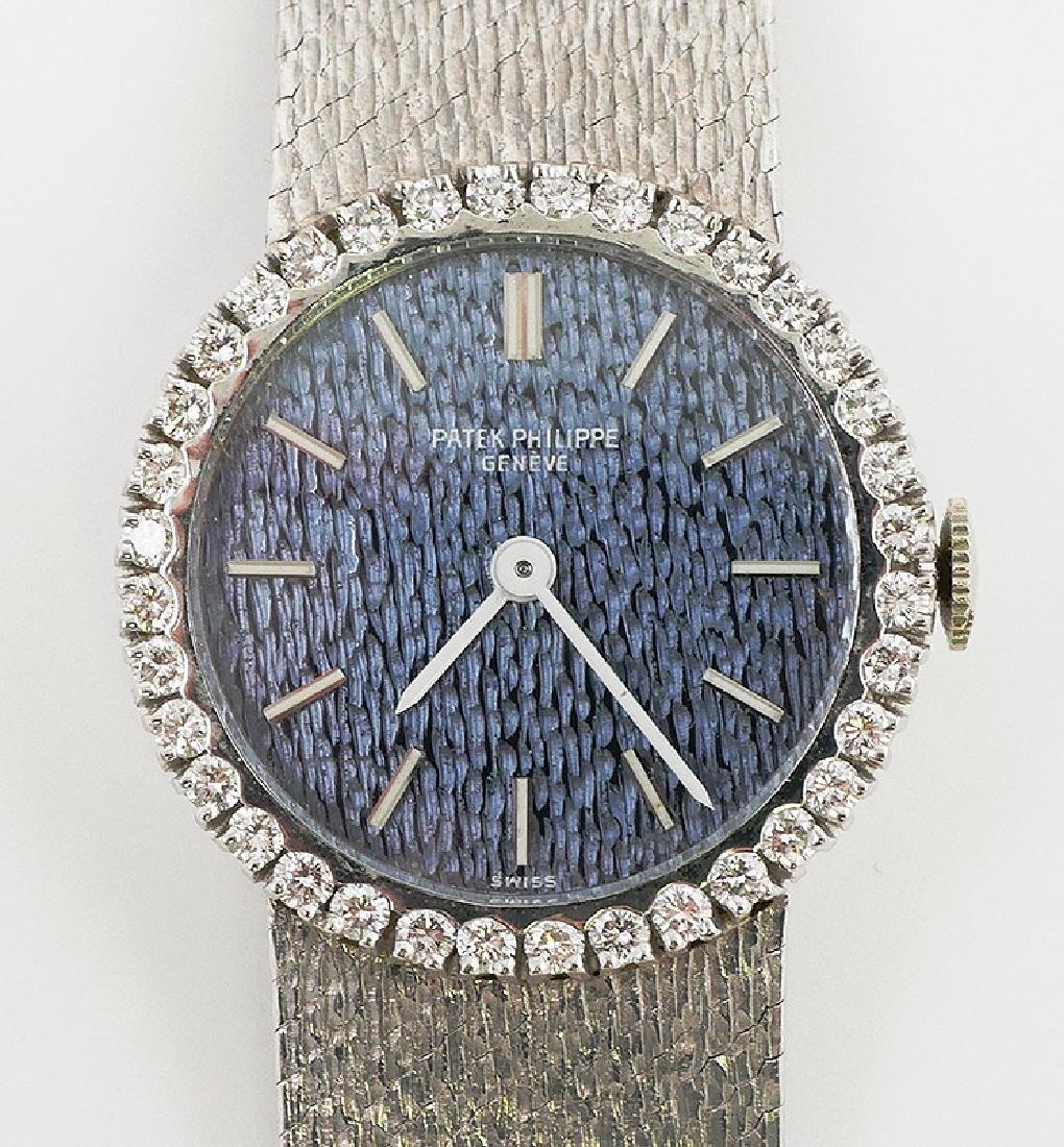 Patek Philippe Ladies 18k White Gold Diamond Watch