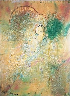 Matt Lamb (1932-2012) Abstract Mixed Media 48x36