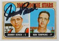 1968 Johnny Bench Topps Rookie Card Hand Signed