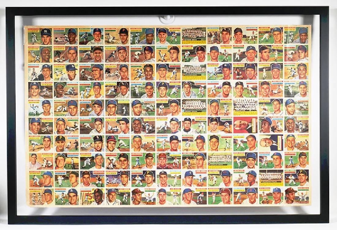 Rare 1956 Topps Baseball 110-Card Uncut Sheet